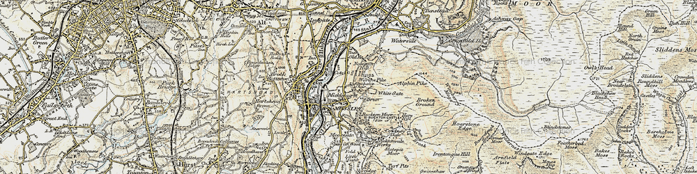 Old map of Abraham's Chair in 1903