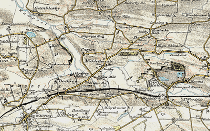 Old map of Whinnow Beck in 1901-1904
