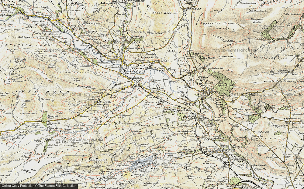 Old Map of Historic Map covering Bail Green in 1903-1904