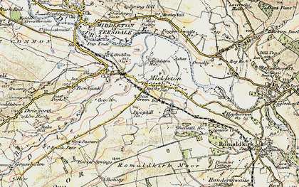 Old map of Bail Green in 1903-1904