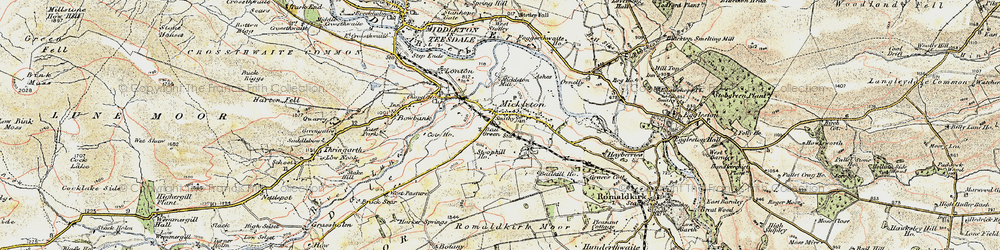 Old map of Mickleton in 1903-1904