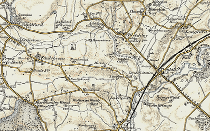 Old map of Bailey Brook in 1902