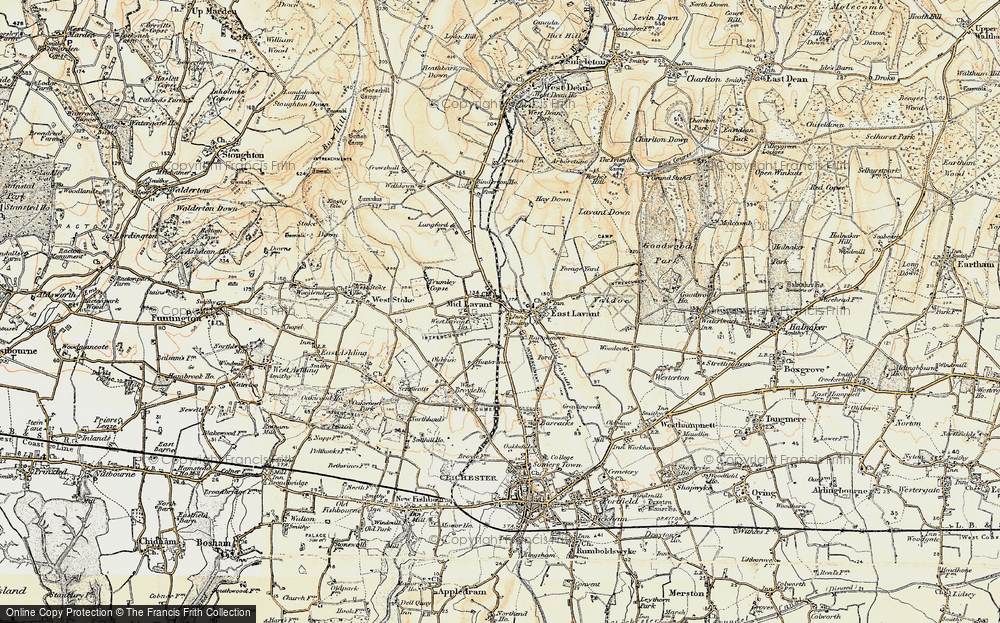 Old Map of Historic Map covering Lavant Ho (Sch) in 1897-1899
