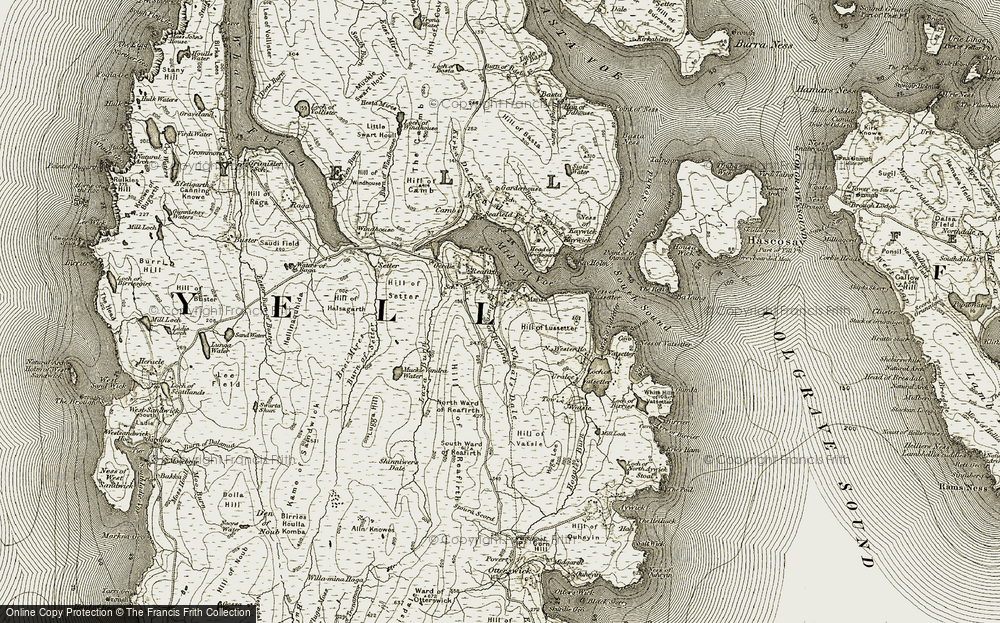 Old Map of Historic Map covering Linkhouse Pier in 1912