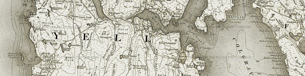 Old map of Whoals Dale in 1912