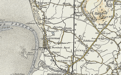 Old map of Applewithy Rhyne in 1899-1900