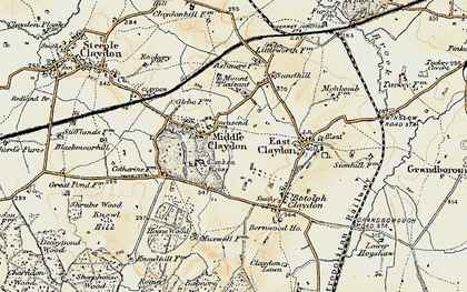 Old map of Middle Claydon in 1898