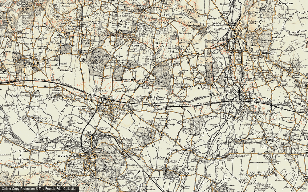 Old Map of Middle Green, 1897-1909 in 1897-1909