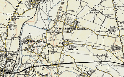 Old map of Middle Littleton in 1899-1901