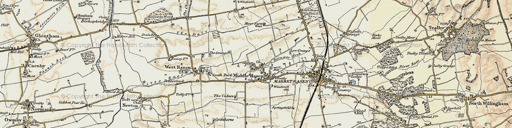 Old map of Middle Rasen in 1903