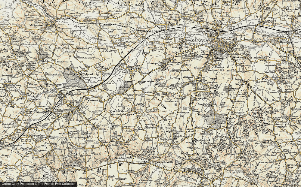 Old Map of Historic Map covering Lipe Hill in 1898-1900
