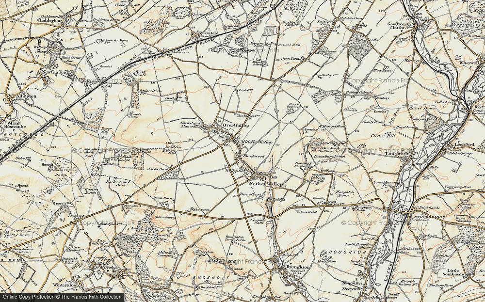 Old Map of Middle Wallop, 1897-1899 in 1897-1899