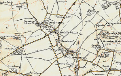 Old map of Middle Wallop in 1897-1899