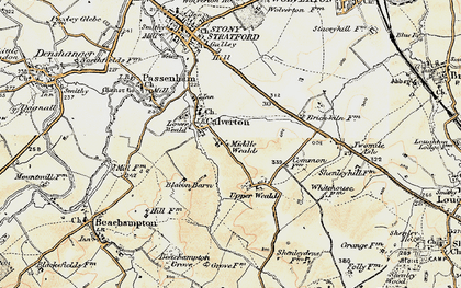 Old map of Middle Weald in 1898-1901