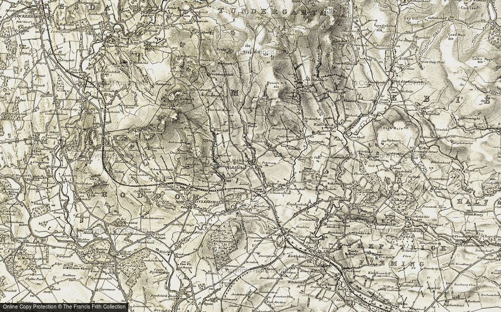 Old Map of Historic Map covering Axletreewell in 1901-1904