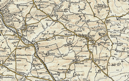 Old map of Wigham in 1899-1900