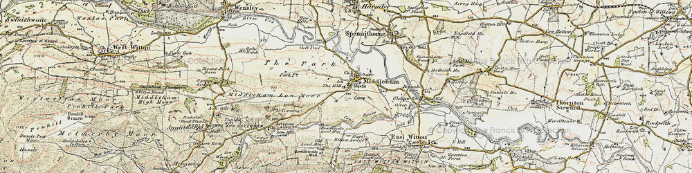Old map of Williams Hill in 1904