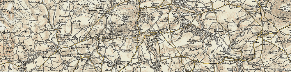 Old map of Tokenbury Manor in 1900