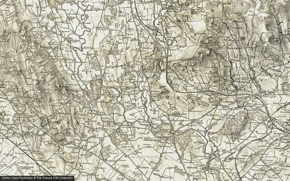 Old Map of Historic Map covering Bankside in 1901-1904