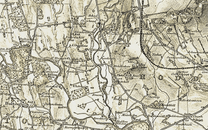 Old map of Bankside in 1901-1904