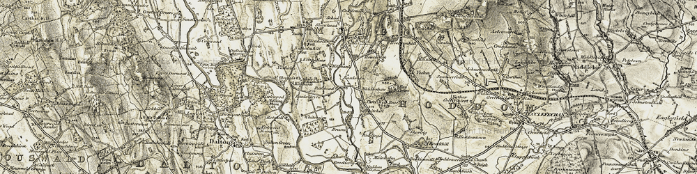 Old map of Yesket in 1901-1904