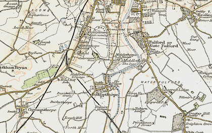 Old map of Middlethorpe in 1903