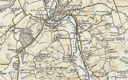 Old map of Middleton in 1898-1901