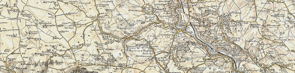 Old map of Middleton in 1902-1903