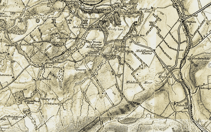Old map of Wull Muir in 1903-1904