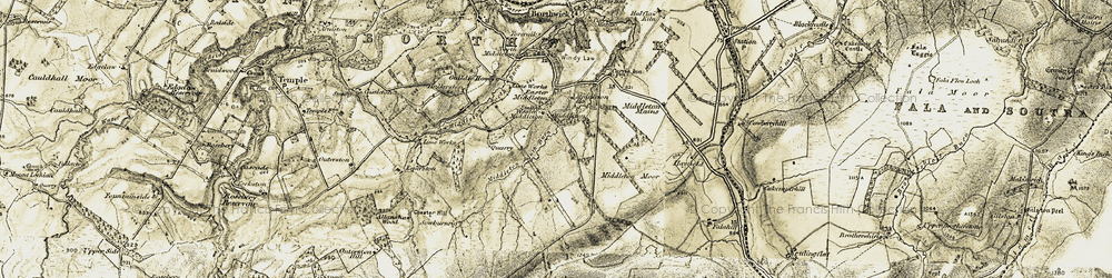Old map of Whitelaw Cleugh in 1903-1904