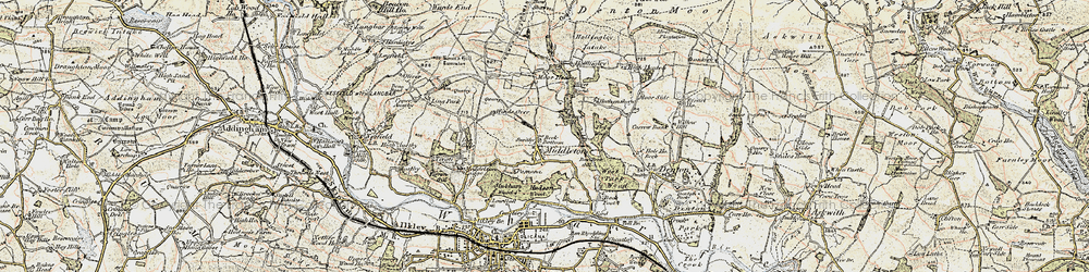 Old map of Wool Stones Hill in 1903-1904