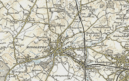 Old map of Middleton in 1903