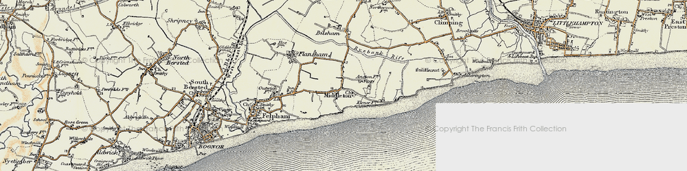 Old map of Middleton-on-Sea in 1897-1899