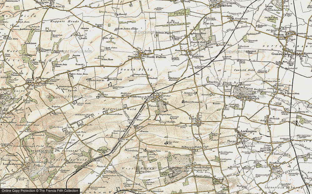 Old Map of Historic Map covering East Riding of Yorkshire in 1903