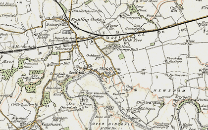 Old map of Middleton One Row in 1903-1904
