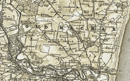 Old map of Laverock Braes in 1909