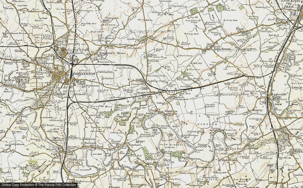 Old Map of Middleton St George, 1903-1904 in 1903-1904