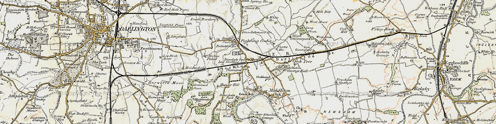 Old map of Middleton St George in 1903-1904