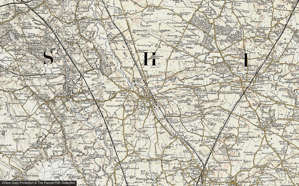 Old Map of Middlewich, 1902-1903 in 1902-1903
