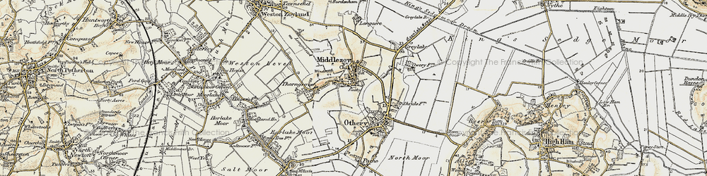 Old map of Middlezoy in 1898-1900