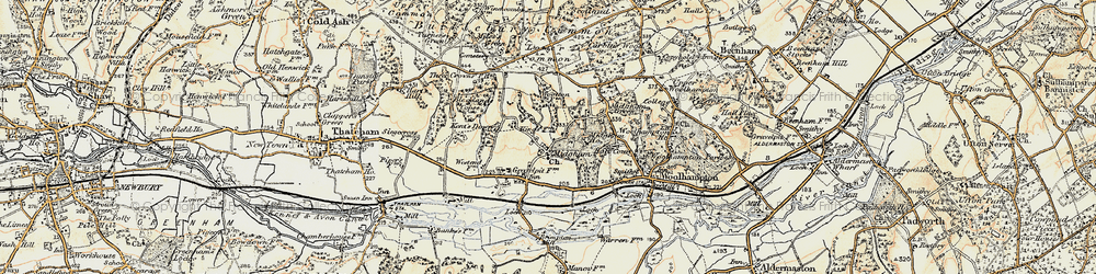 Old map of Woottens in 1897-1900