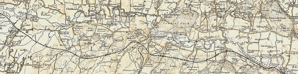 Old map of Midhurst in 1897-1900