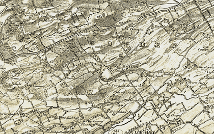 Old map of Whitmuir Hall in 1901-1904