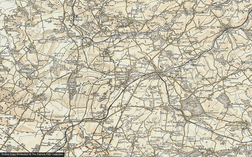 Old Map of Midsomer Norton, 1899 in 1899