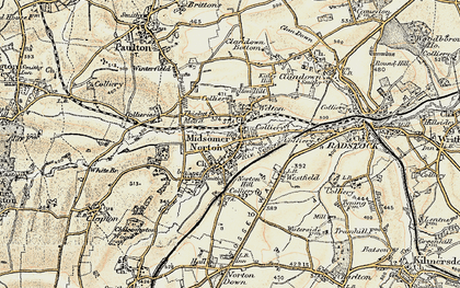 Old map of Midsomer Norton in 1899