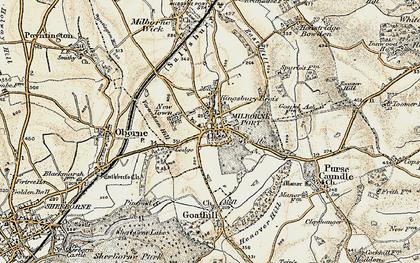 Old map of Milborne Port in 1899