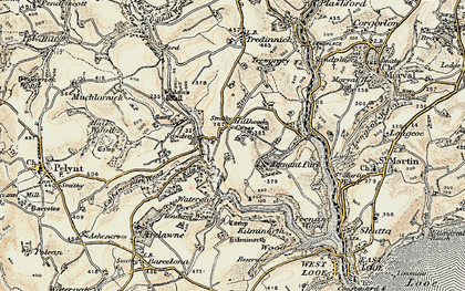 Old map of Milcombe in 1900