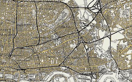Old map of Mile End in 1897-1902
