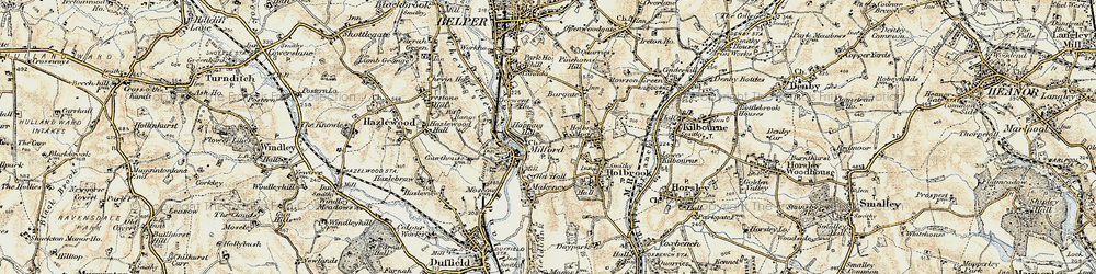 Old map of Milford in 1902-1903
