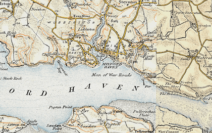 Old map of Milford Haven in 1901-1912